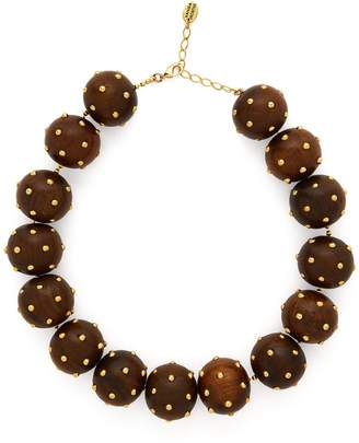 VANDA JACINTHO Studded bead necklace
