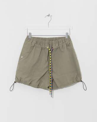 Proenza Schouler Moss Drawstring Parachute Shorts