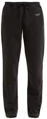 Acne Studios Cotton Track Pants - Womens - Black
