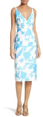 Women's Milly Liz Floral Jacquard Sheath Dress $425 thestylecure.com