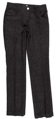 Dolce & Gabbana Wool Herringbone Pants