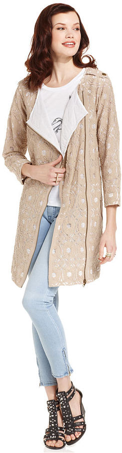 Rachel Roy Coat, Three-Quarter Lace Trench