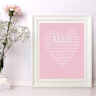 TillyBob and Me Personalised Mum Heart Print