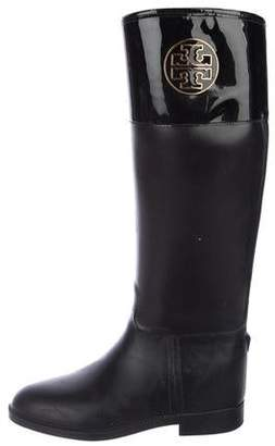 86d6bf91ee80d Tory Burch Black Round Toe Women s Boots - ShopStyle