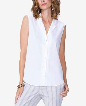 NYDJ Sleeveless Cotton Shirt