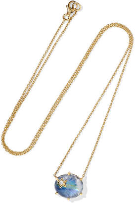 Andrea Fohrman Mini Galaxy Star 18-karat Gold Multi-stone Necklace