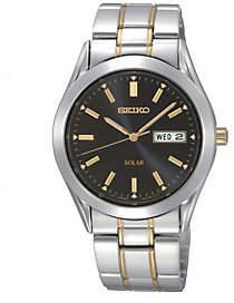 Seiko Men's Stainless Steel Two-Tone Solar Bracelet Watch