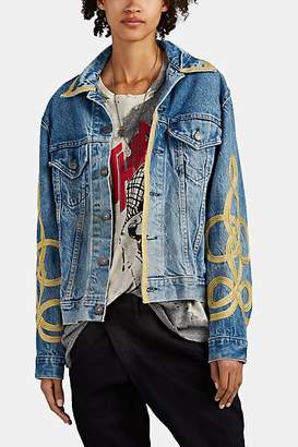 R 13 Women's Soutache Levi's® Denim Trucker Jacket - Blue