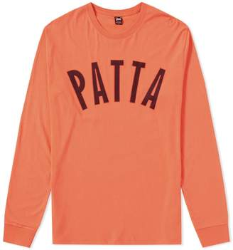Patta Long Sleeve Curve Logo Tee