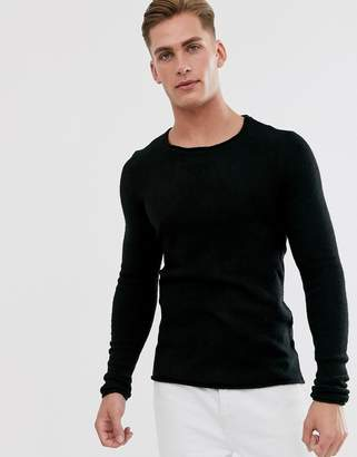 Selected knitted crew neck sweater