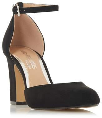 Head Over Heels by Dune - Black 'Calipso' High Block Heel Court Shoes