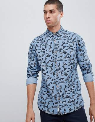 ONLY & SONS Slim Fit All Over Print Shirt