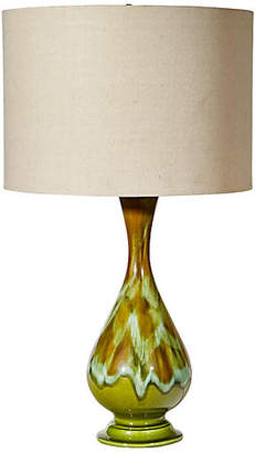 One Kings Lane Vintage 1960s Drip-Glaze Table Lamp
