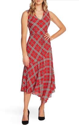 Vince Camuto Highland Plaid Asymmetrical Dress
