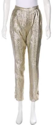 Stella McCartney Metallic High-Rise Pants