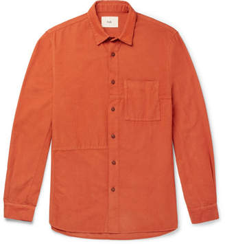 Folk Fragment Slim-Fit Cotton-Corduroy Shirt