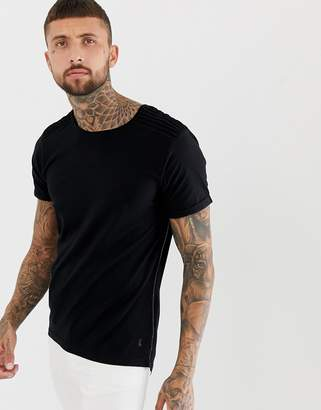Ringspun scoop hem ribbed t-shirt