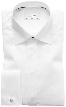 Eton Slim Fit Textured Formal Dress Shirt
