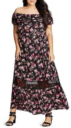 City Chic Off-The-Shoulder Maxi Dress $119 thestylecure.com