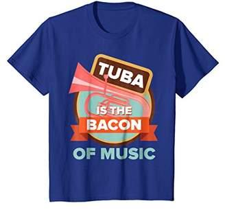 Funny Christmas Tuba Player Gift Bacon of Music T-Shirt Men