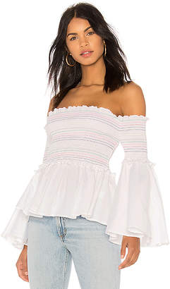 Central Park West Primrose Off the Shoulder Top
