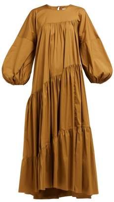 Lee Mathews - Elsie Wave Cotton Blend Dress - Womens - Light Brown
