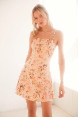 Kimchi Blue Marjery Printed Knit Fit + Flare Mini Dress $49 thestylecure.com