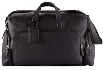 Giorgio Armani Men's Tumbled Calf-Leather Carryall Duffel Bag