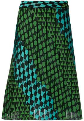 M Missoni graphic knit A-line skirt