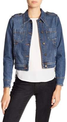 Joe Fresh Topstitched Cropped Denim Jacket