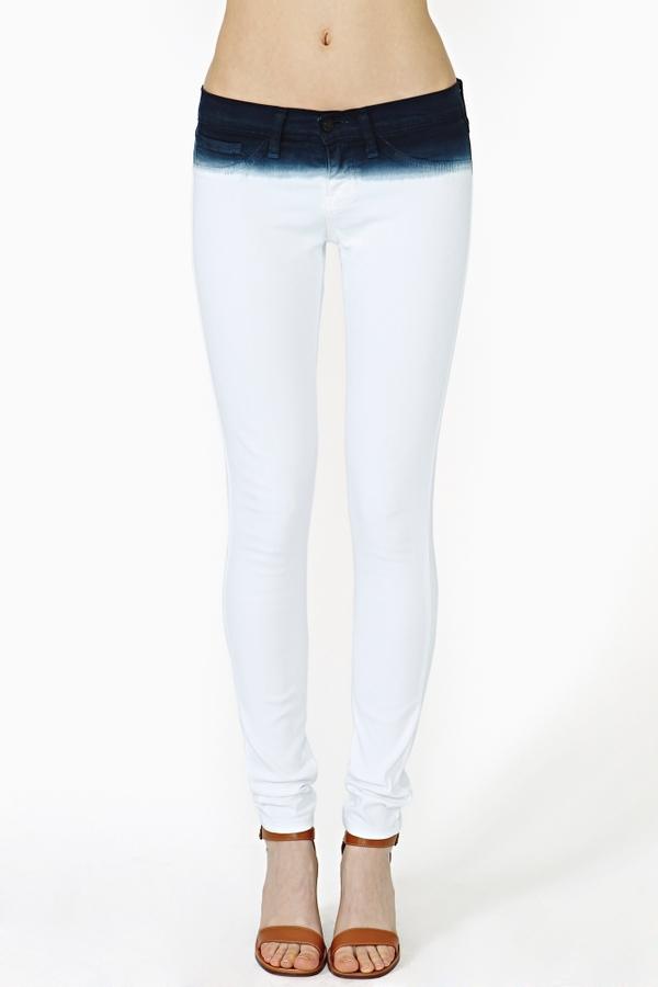 Nasty Gal Ink Dip Skinny Jeans