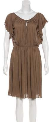 Tomas Maier Short Sleeve Knee-Length Dress