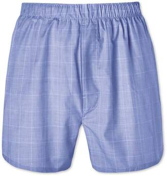 Charles Tyrwhitt Blue Prince Of Wales Woven Boxers Size Large