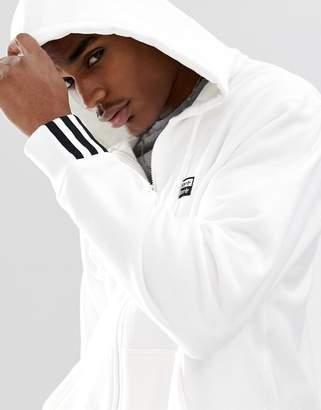 adidas RYV logo print hoodie in white