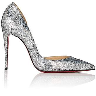 Christian Louboutin Women's Iriza Glitter Leather Pumps - Silver