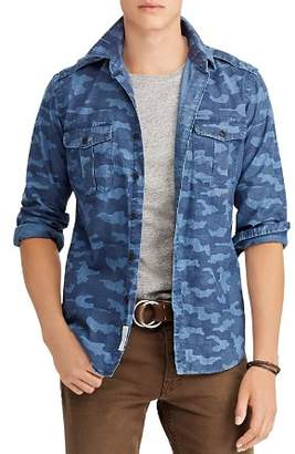 Polo Ralph Lauren Polo Camouflage Indigo Chambray Classic Fit Workshirt