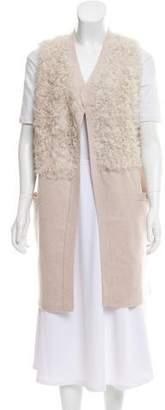 Duffy Mongolian Fur Paneled Vest w/ Tags