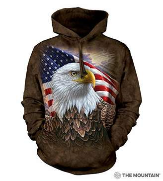The Mountain Independence Eagle Adult Hoodie