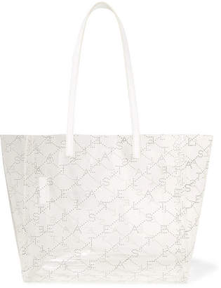 Stella McCartney (ステラ マッカートニー) - Stella McCartney - Faux Leather-trimmed Printed Pu Tote - White