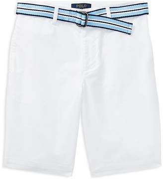 Polo Ralph Lauren Boys' Slim-Fit Stretch Shorts with Belt - Big Kid