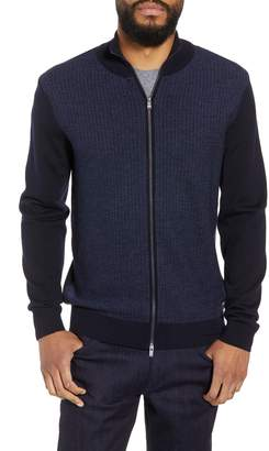BOSS Emondo Regular Fit Wool Zip Sweater
