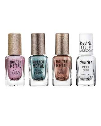 Barry M Metal Nail Paint & Base Coat Set