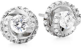 JCPenney FINE JEWELRY 1 CT. T.W. Diamond Spiral 10K White Gold Stud Earrings