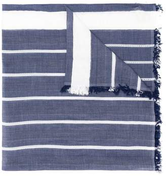 Altea frayed hem striped scarf