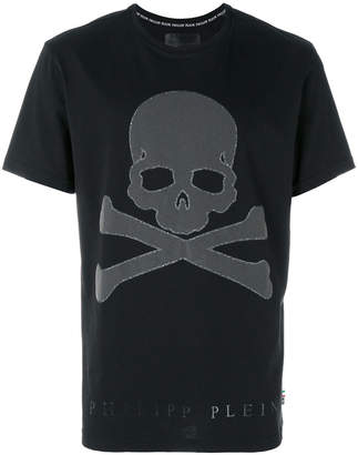 Philipp Plein skull and crossbones T-shirt