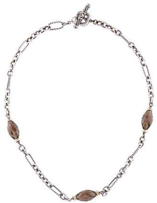 David Yurman Smoky Quartz Bijoux Necklace