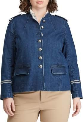 Lauren Ralph Lauren Plus Denim Officer's Jacket
