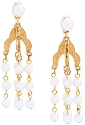 Oscar de la Renta pearl tassel earring