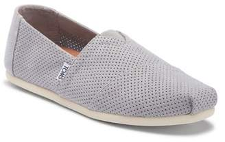 Toms Alpargata Perforated Suede Slip-On Sneaker