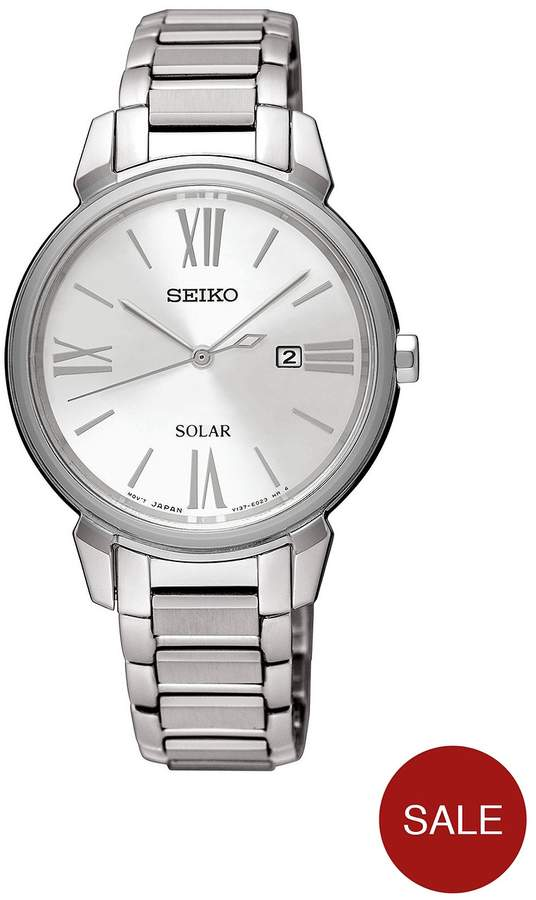 Stainless Steel Bracelet Silver Dial Ladies Watch